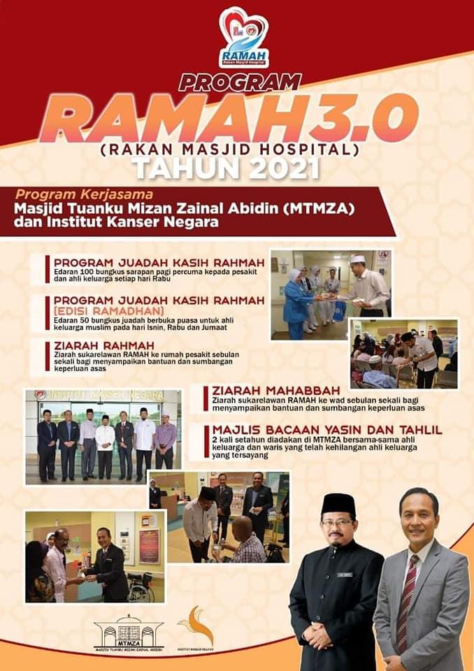 MTMZA Terus Memperkukuhkan Hubungan Dengan Institut Kanser Negara (IKN) Melalui Program Ramah (Rakan Masjid Hospital).